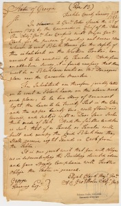 Blockhouse Order January 23, 1793