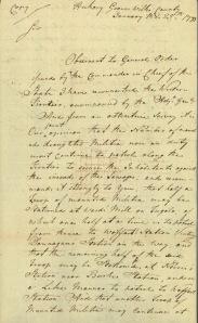Donnegan's Station Jan. 25 1793