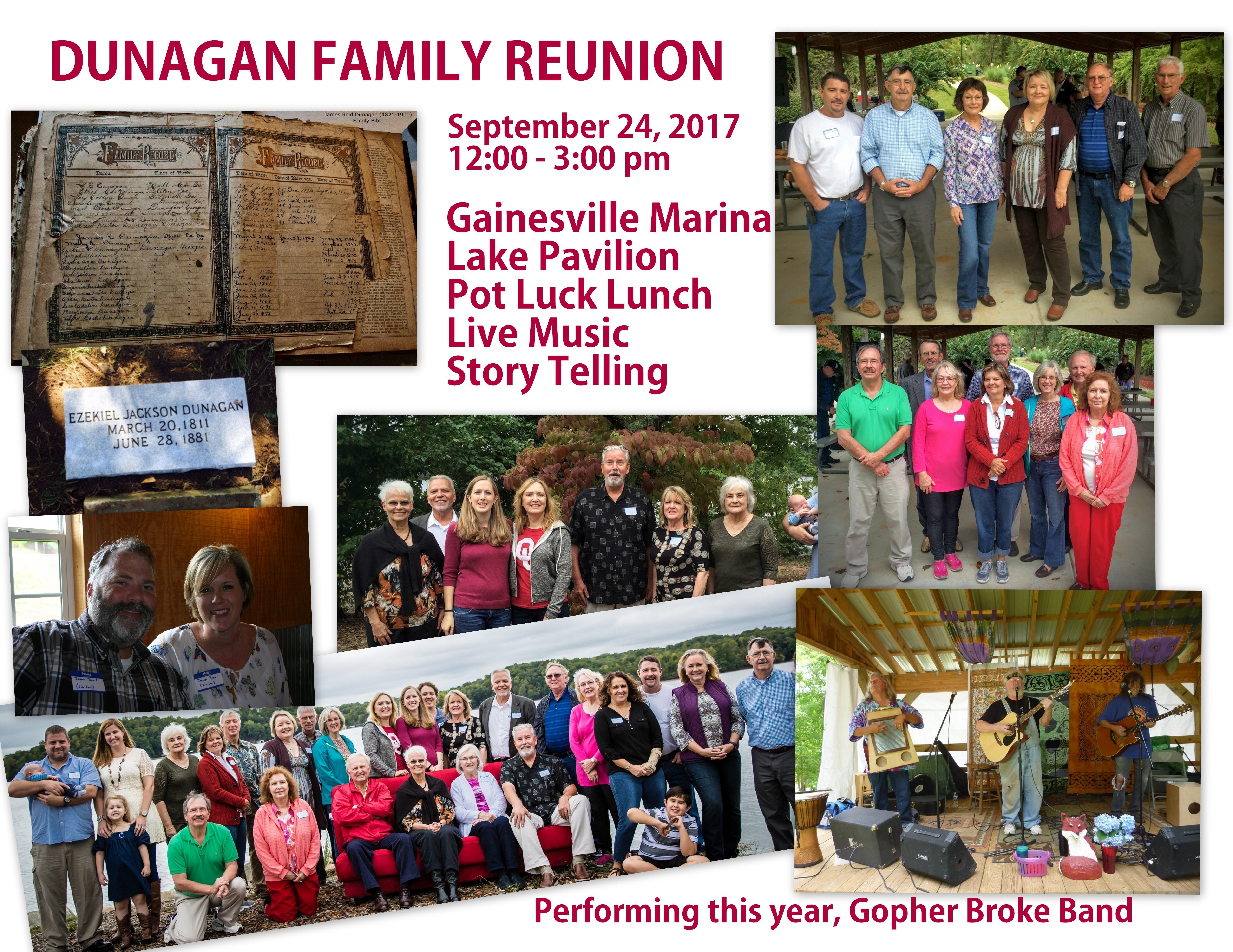 Dunagan Family Reunion 2017 flyer
