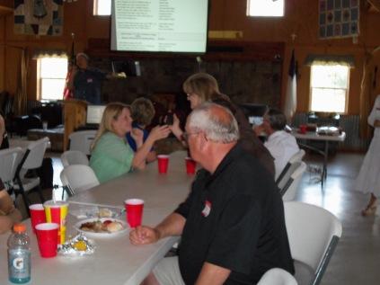 Dunagan's-Danny, Ann, Katie, Roger, and Brad at podium